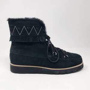 Jack Rogers Vera Suede Lace Up Winter Snow Boots 9
